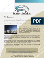 Sandborn Roofs System Brochure