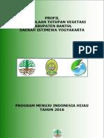 Profil Tutupan Vegetasi Kab. Bantul 2016
