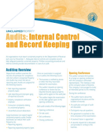 Audits Internal Control and Record Keeping