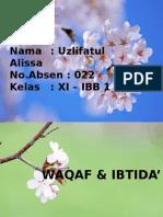 Waqaf&Ibtida'