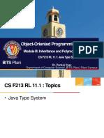 CS F213 RL 11.1