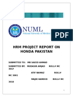 Complete Report of Honda Hrm