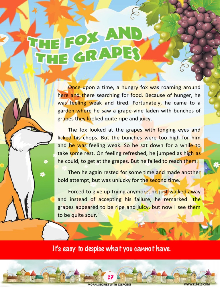 grapes are sour story moral