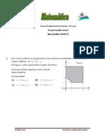 Programação Linear Ficha 2 GES