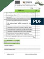 Lista Cotejo Análisis Documentario Planificación 2017