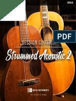 Session Guitarist - Strummed Acoustic 2 Manual English