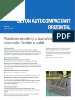 Beton Autocompactant Orizontal