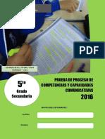 Evaluación de proceso COM - 5°