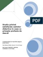 Studiu Final Satisfactia Cadrelor Didactice