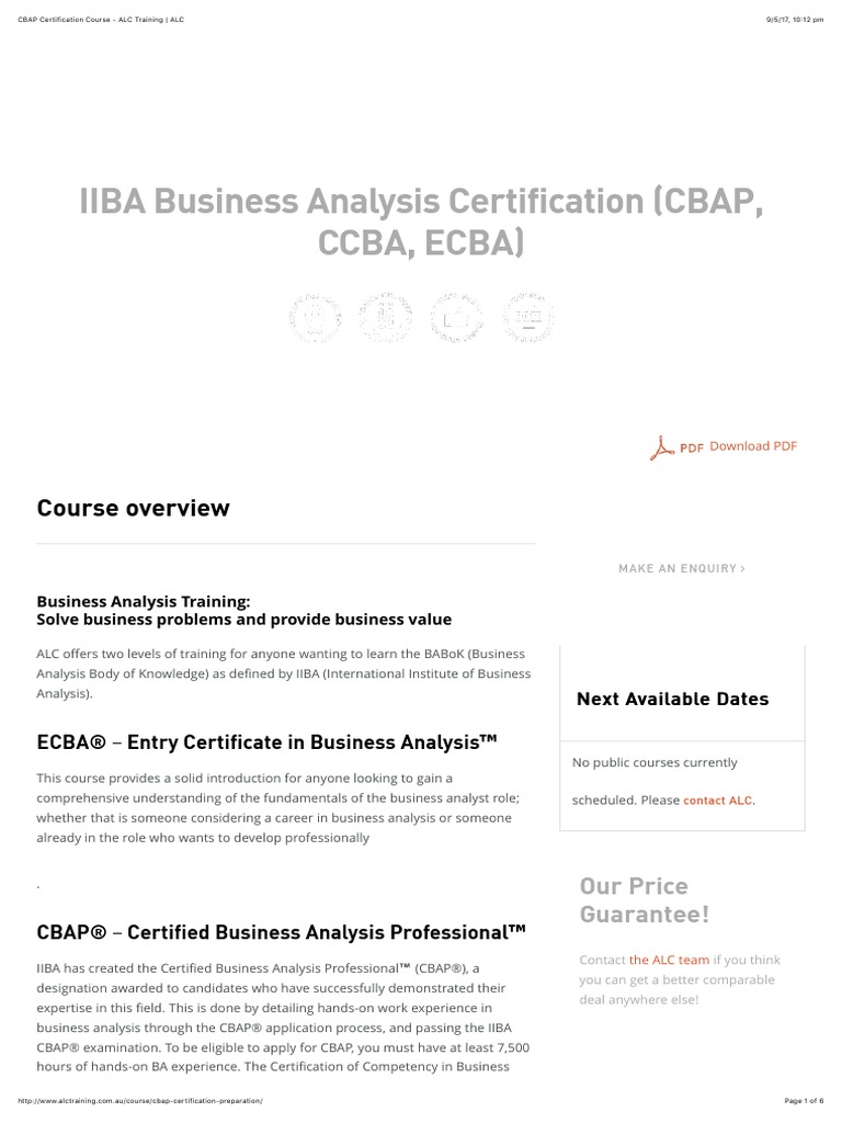 Cbap Certification Course Alc Training Alcpdf Test