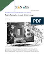 Fourth Revolution Through 3D Technology