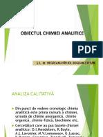 Obiectul Chimiei Analitice