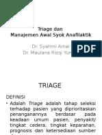 Triage Dan Manajemen Syok Anafilaktik