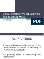 Global Perspective on Learning and Teaching Music
