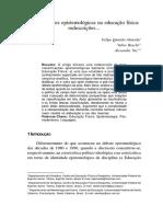 Classificações Epistemológicas Na Educação Física