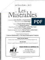 Les Misérables - Full Piano-Condutor's Score