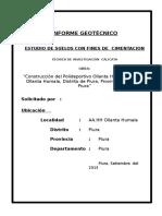 ESTUDIO GEOTECNICO de Polideportivo Ollanta Humala