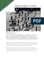 La Cuestión Ambiental en El Código Civil y Comercial