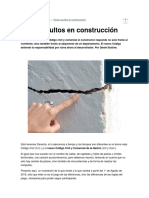 Vicios Ocultos en Construcción en El Nuevo Código Civil