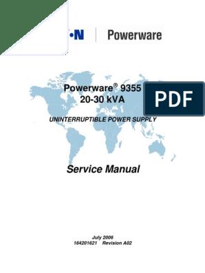 9355 30kVA Service Manual_A02 | Power Inverter | Rectifier