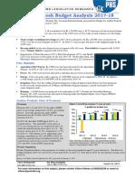 Andhra Pradesh Budget Analysis 2017-18