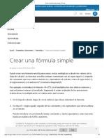 Crear Una Fórmula Simple - Excel