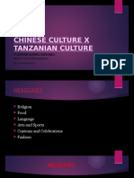 CHINESE CULTURE X TANZANIAN CULTURE. ANWAR HAMIDU SARUMBO. L201604160119.pptx