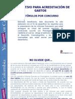 Instructivo Acreditacion Gastos Concurso Fdc2015