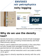 Density Logging of Wells