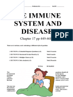 Questions Week 34 THE IMMUNE SYSTEM AND DISEASE