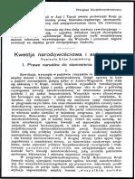 Kwestia narodowościowa i autonomia (1) - Róża Luksemburg
