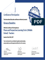 Certificate Places and Perspectives 2017