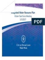 CityofSugarland/IntegratedWaterResourcePlan/CitizenTaskForce/May3rd,2017