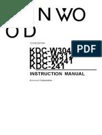 Kenwood Kdc241 Manual