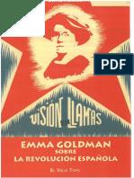Porter, David (Ed.) - Visión en Llamas. Emma Goldman Sobre La Revolución Española