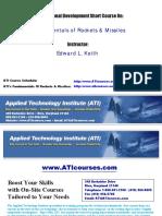 Fundamentals Of Rockets & Missiles