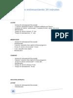 Planificación entrenamiento Educación Fisica 3 ESO