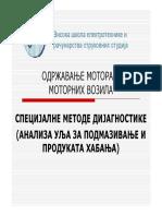 14 - Specijalne Metode Dijagnostike - Analiza Ulja Za Podmazivanje i Produkata Habanja