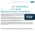 Tidal Datum Calculation From Water Level Measurements Simplified