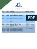 2015 Act Interschools Events Dates