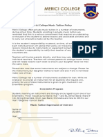 Private Tuition Form