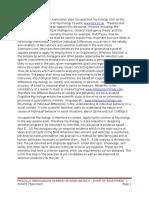 The British Psychological Association Sites Occupational Psychology