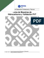 CIED de Muestras de Hidrocarburos y Validación PVT