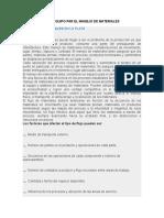 2.3 Seleccion Del Equipo de Manejo de Materiales en La Plata