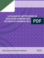 Catalogo Posgrado Escuelas