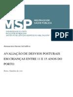 Avaliação de Desvios Posturais Em Crianças e Adolescentes de Porto