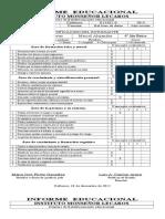 Informe Educacional formato