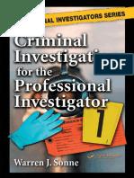 [BCPI, CLI, Warren J. Sonne] Criminal Investigatio