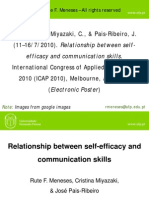 Relationship Between Self-efficacy and Communication Skills