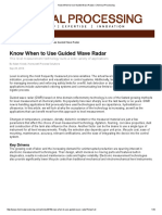 Know When to Use Guided Wave Radar _ Chemical Processing